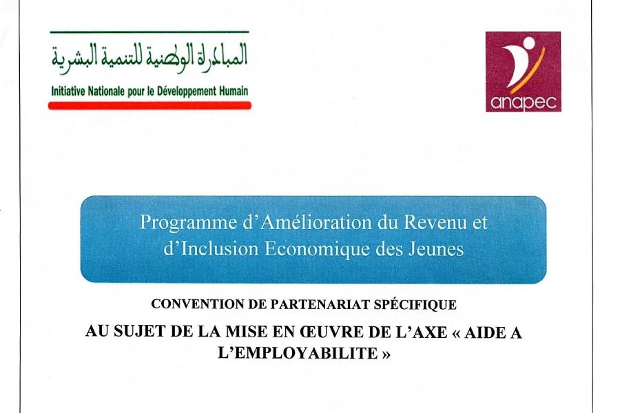 Signature d'une convention visant la formation et l'insertion de 44 jeunes chercheurs d'emploi